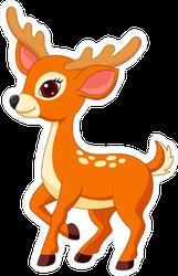 Cute Cartoon Deer Sticker