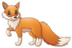 Cute Cartoon Fox Sticker