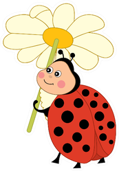 Cute Cartoon Funny Ladybug Sticker