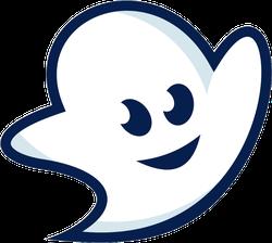 Cute Cartoon Ghost Icon Sticker