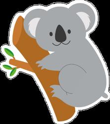 Cute Cartoon Koala Sticker