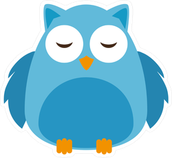 Cute Cartoon Owl Bird Sticker