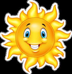 Cute Cartoon Sun Sticker