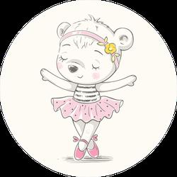 Cute Dancing Bear Ballerina Sticker