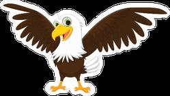 Cute Eagle Cartoon Sticker