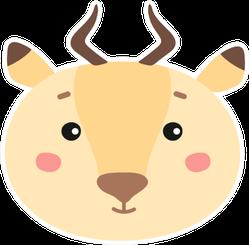 Cute Face Antelope Sticker