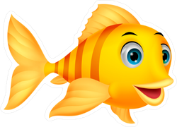 Cute Fish Cartoon Sticker