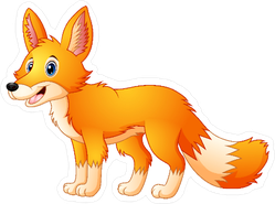 Cute Fox Cartoon Sticker