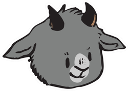 Cute Funny Smiling Goat Face Sticker