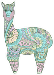 Cute Funny Sweet Colorful Lama Sticker