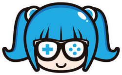 Cute Geek Gamer Girl Blue Sticker