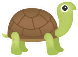 Cute Green Turtle Sticker
