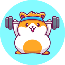 Cute Hamster Gym Fitness Sticker