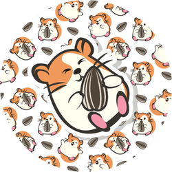 Cute Hamster Pattern Sticker