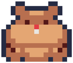 Cute Hamster Pixel Art Icon Sticker