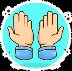 Cute Hand Pray illustration Sticker
