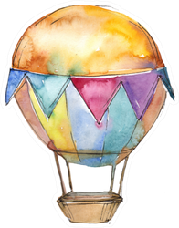 Cute Hot Air Balloon Sticker