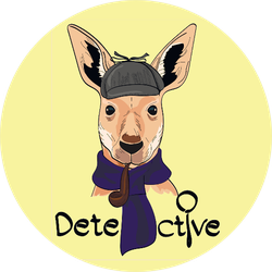 Cute Kangaroo In Detective Hat And Scarf Sticker