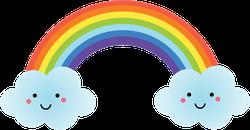 Cute Kawaii Rainbow Character Sticker