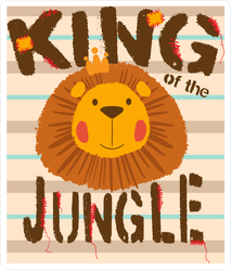 Cute King Of The Jungle Lion Sticker