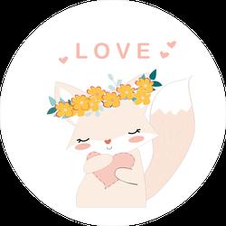 Cute Kit In Love Sticker