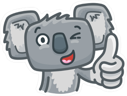 Cute Koala Bear Character Sticker