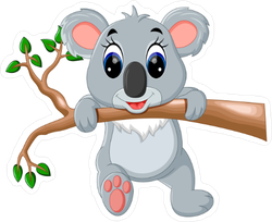 Cute Koala Cartoon Sticker