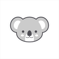 Cute Koala Face Sticker