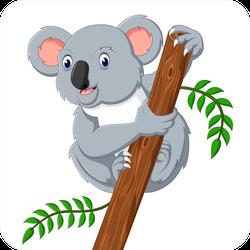 Cute Koala Holding A Tree Sticker