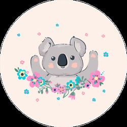 Cute Koala Illustration Sticker