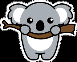 Cute Koala On A Branch Sticker