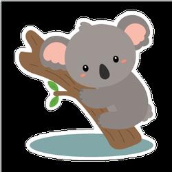 Cute Koala Vector Sticker