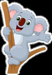 Cute Koala Waving Sticker