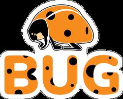 Cute Ladybug Orange Sticker