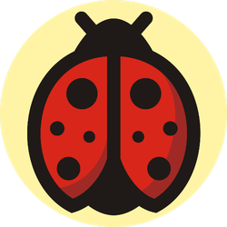 Cute Ladybug Yellow Sticker