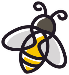Cute Line Art Bee Logo Sticker