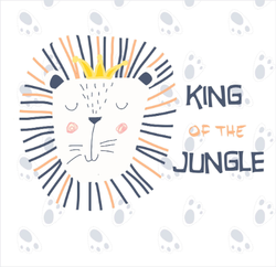 Cute Lion King Of The Jungle Sticker