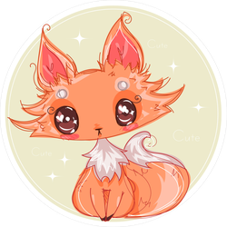 Cute Little Anime Fox Sticker