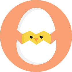 Cute Little Chick In Cracked Egg Colorful Sticker
