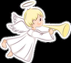Cute Little Christmas Angel Sticker