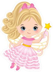 Cute Little Fairy With Magic Wand Sticker