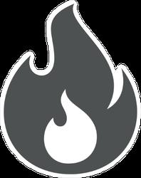 Cute Little Flame Sticker