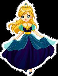 Cute Little Princess Cartoon Sticker