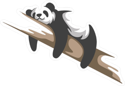 Cute Lounging Panda Sticker