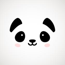 Cute Minimal Panda Sticker