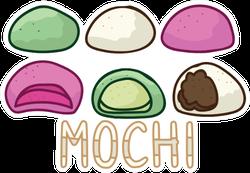 Cute Mochi Assortment Sticker