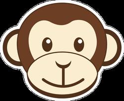 Cute Monkey Head Sticker