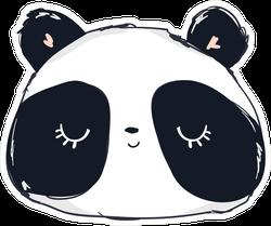 Cute Panda Bear With Eyes Closed Sticker