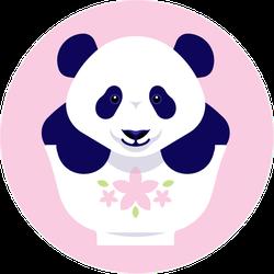 Cute Panda In Bowl Sticker