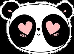 Cute Panda In Love Sticker